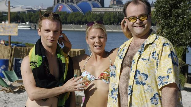 v.l.n.r. Ralf Schmitz, Mirja Boes und Markus Majowski geben wieder heitere Ei...